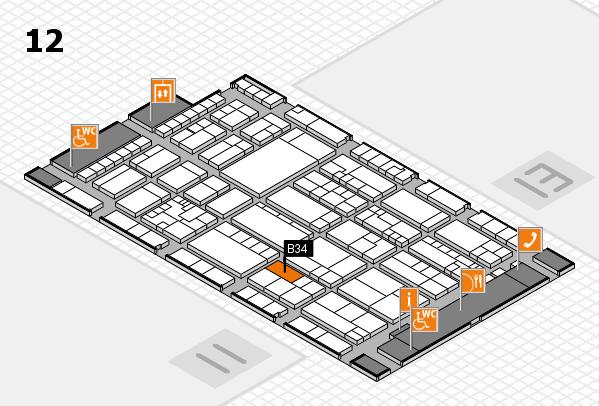 K 2016 hall map (Hall 12): stand B34