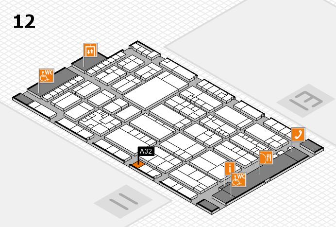 K 2016 hall map (Hall 12): stand A32