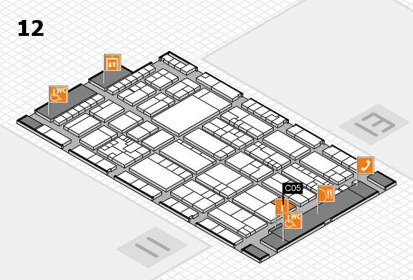 K 2016 hall map (Hall 12): stand C05