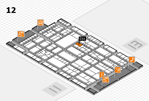 K 2016 Hallenplan (Halle 12): Stand E54