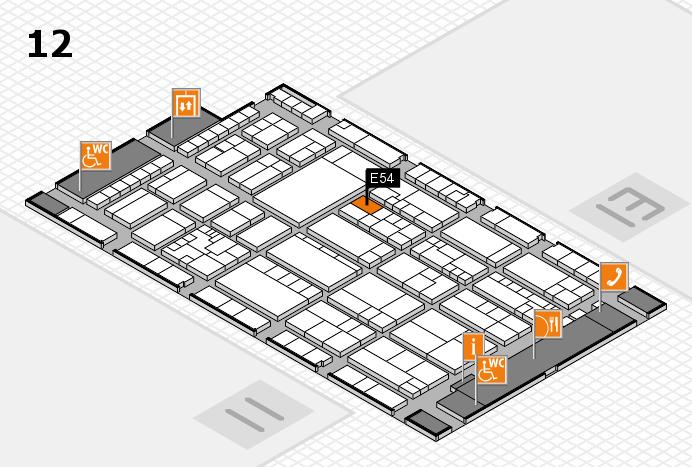 K 2016 hall map (Hall 12): stand E54