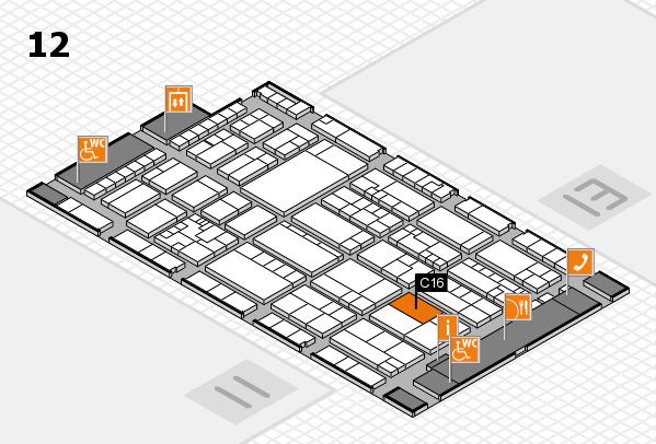 K 2016 hall map (Hall 12): stand C16