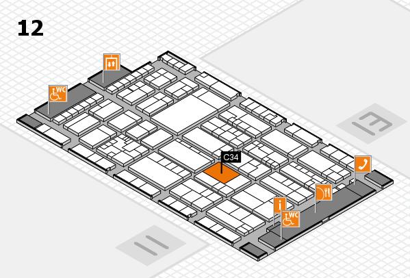 K 2016 Hallenplan (Halle 12): Stand C34