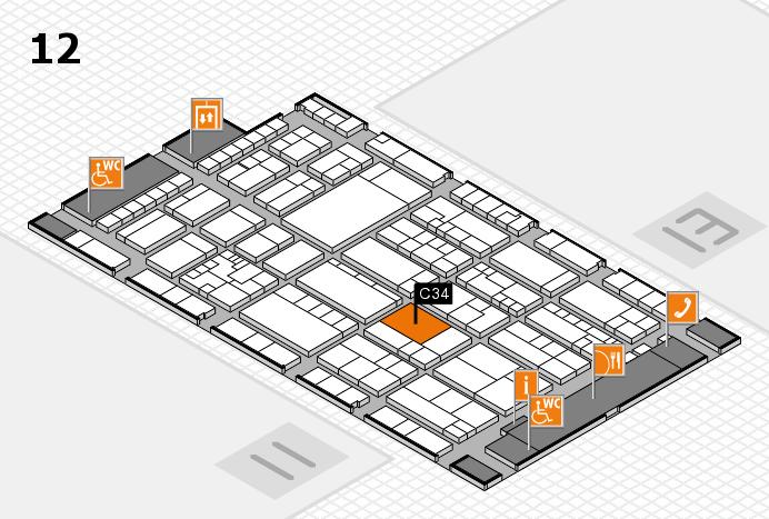 K 2016 hall map (Hall 12): stand C34