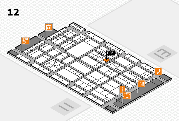 K 2016 Hallenplan (Halle 12): Stand D35