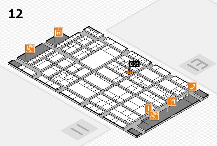 K 2016 hall map (Hall 12): stand D35