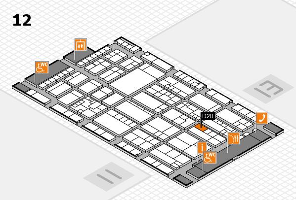 K 2016 hall map (Hall 12): stand D20