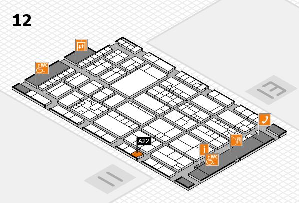 K 2016 Hallenplan (Halle 12): Stand A22