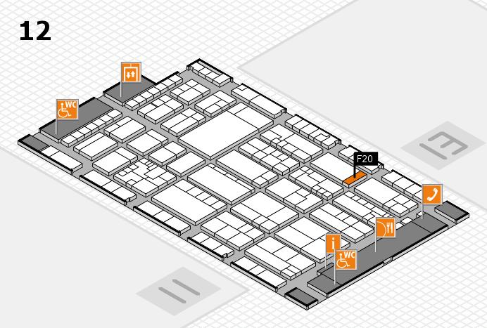 K 2016 hall map (Hall 12): stand F20
