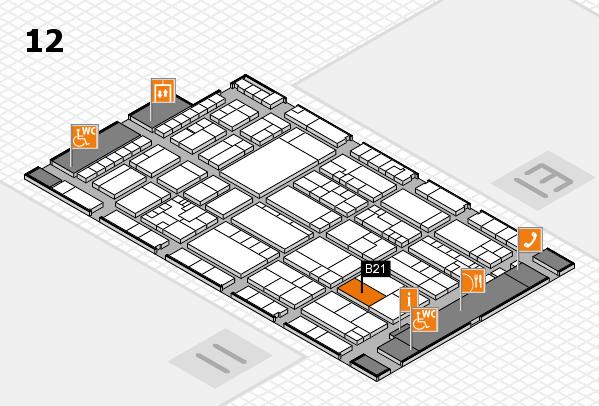 K 2016 hall map (Hall 12): stand B21