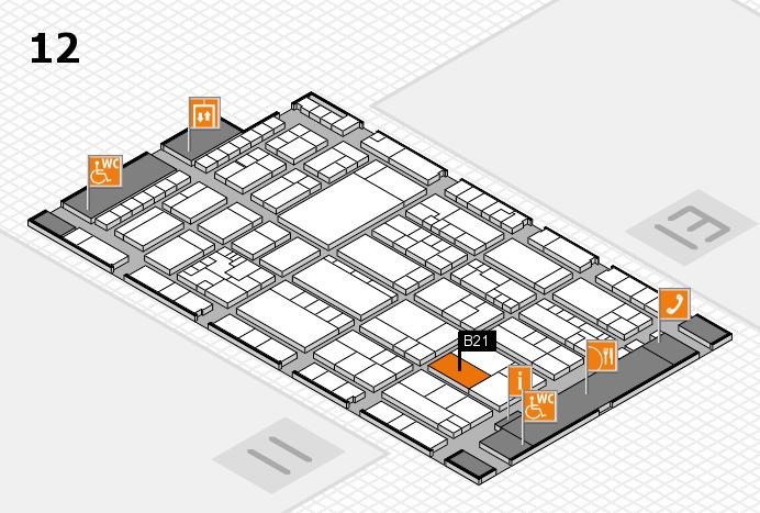 K 2016 Hallenplan (Halle 12): Stand B21