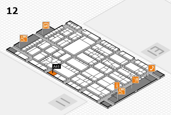 K 2016 hall map (Hall 12): stand A46