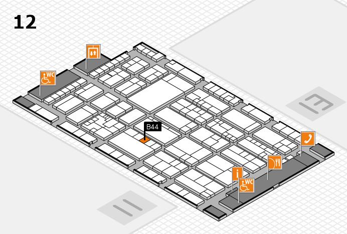 K 2016 hall map (Hall 12): stand B44