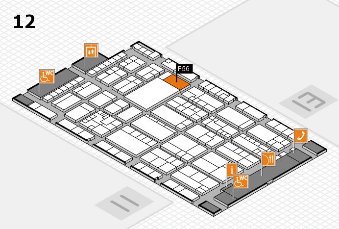 K 2016 hall map (Hall 12): stand F56