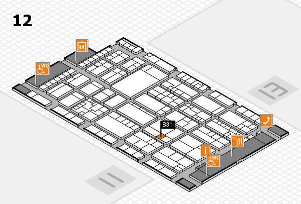K 2016 hall map (Hall 12): stand B31