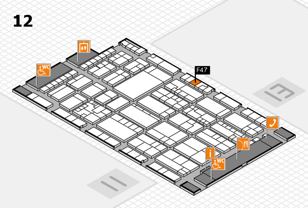 K 2016 Hallenplan (Halle 12): Stand F47