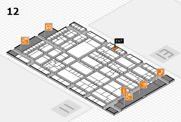 K 2016 hall map (Hall 12): stand F47