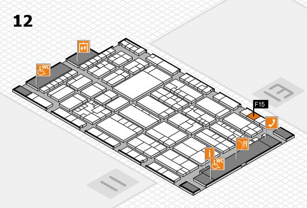 K 2016 hall map (Hall 12): stand F15