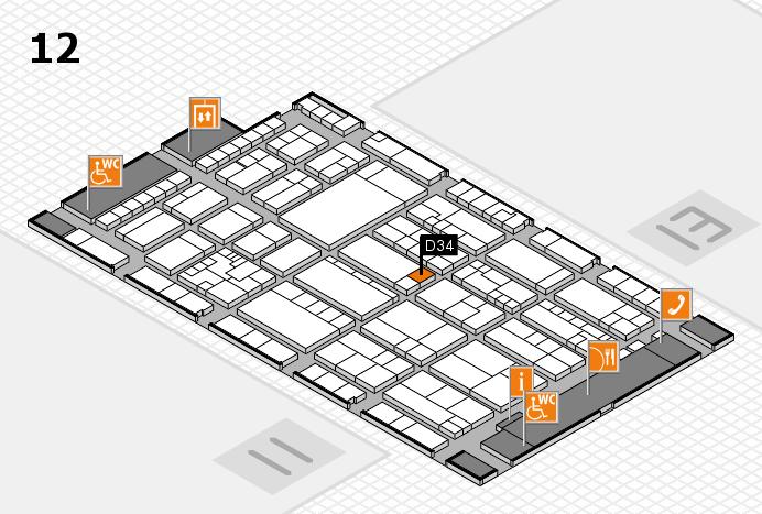 K 2016 hall map (Hall 12): stand D34