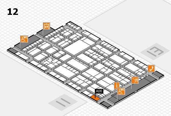 K 2016 hall map (Hall 12): stand A06