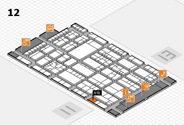 K 2016 Hallenplan (Halle 12): Stand A18