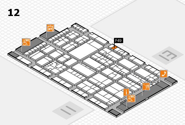 K 2016 hall map (Hall 12): stand F49