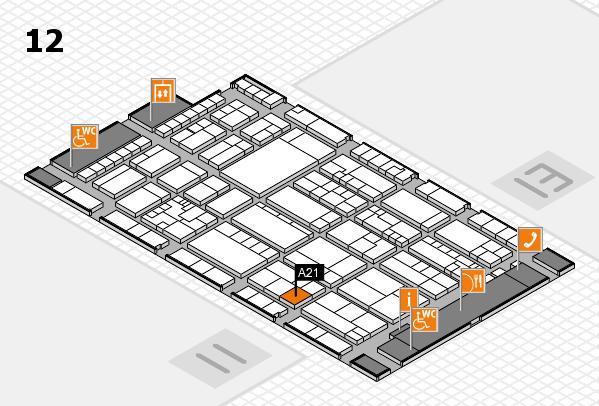 K 2016 hall map (Hall 12): stand A21