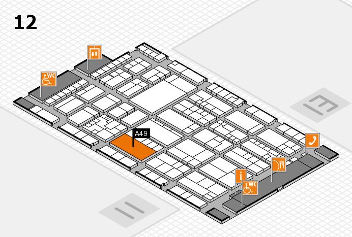 K 2016 hall map (Hall 12): stand A49