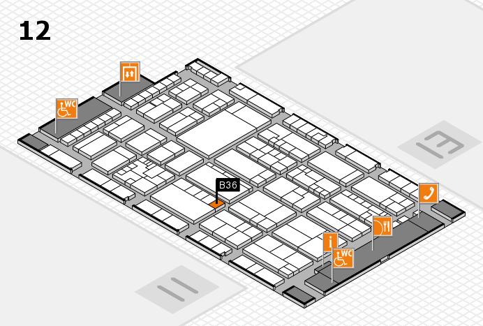 K 2016 hall map (Hall 12): stand B36