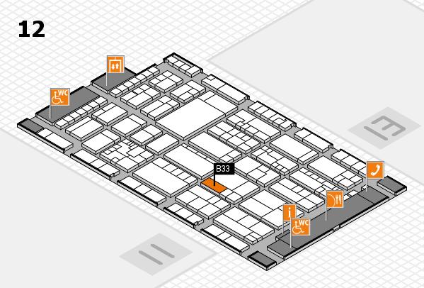 K 2016 Hallenplan (Halle 12): Stand B33