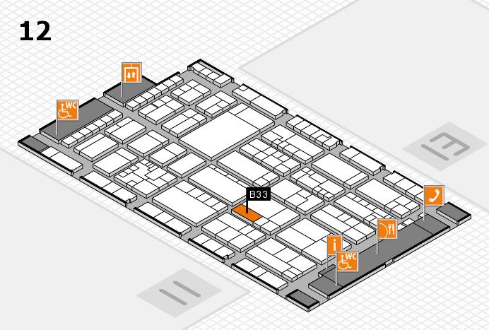 K 2016 hall map (Hall 12): stand B33