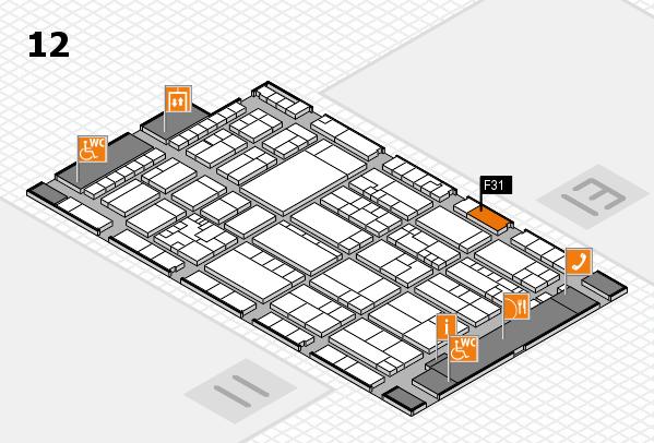 K 2016 hall map (Hall 12): stand F31