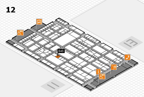 K 2016 Hallenplan (Halle 12): Stand B46