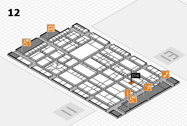 K 2016 Hallenplan (Halle 12): Stand D14
