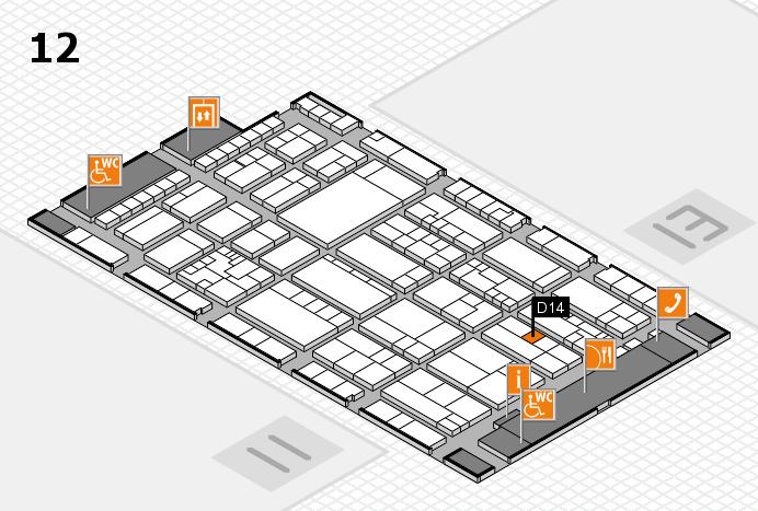 K 2016 hall map (Hall 12): stand D14