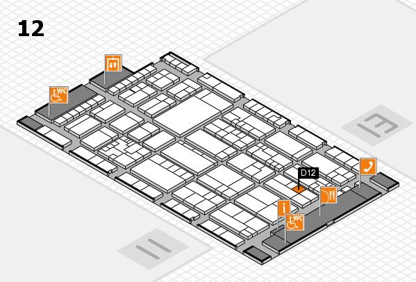 K 2016 hall map (Hall 12): stand D12