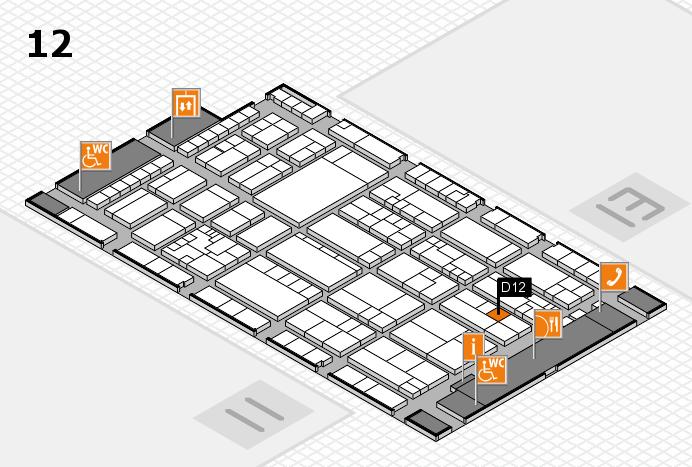 K 2016 Hallenplan (Halle 12): Stand D12