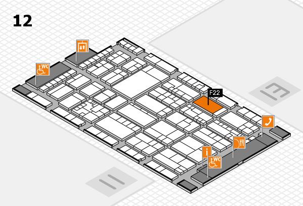 K 2016 Hallenplan (Halle 12): Stand F22