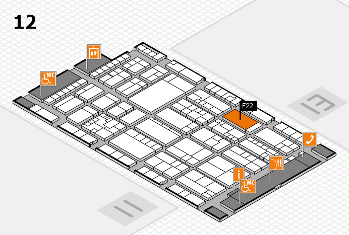 K 2016 hall map (Hall 12): stand F22
