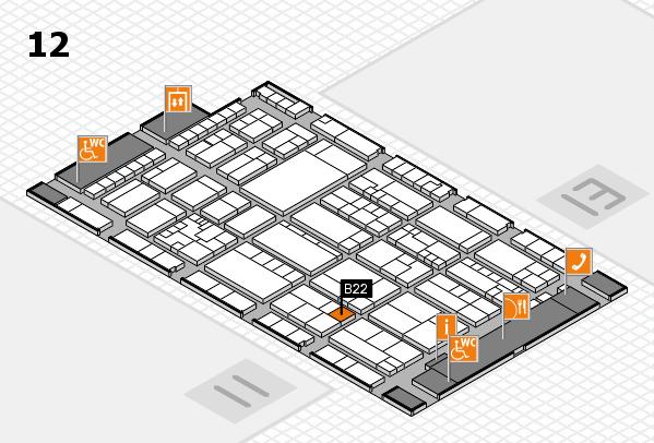 K 2016 hall map (Hall 12): stand B22