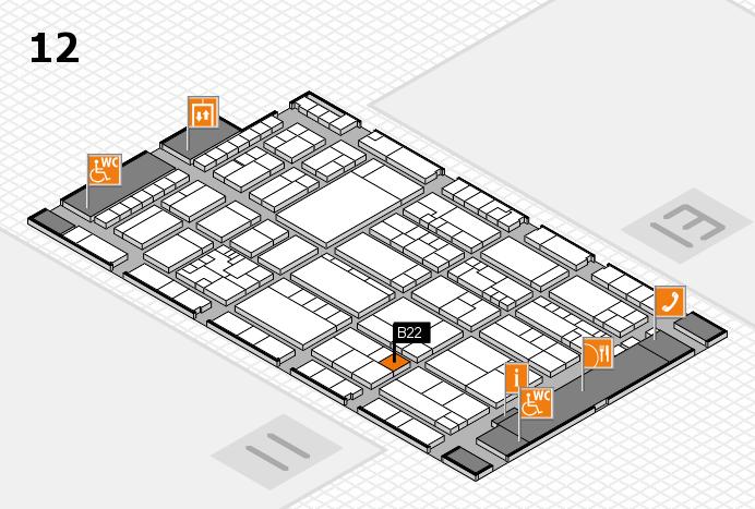 K 2016 Hallenplan (Halle 12): Stand B22