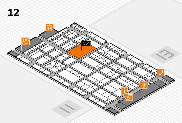 K 2016 hall map (Hall 12): stand C51