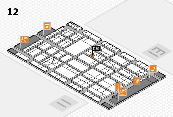 K 2016 hall map (Hall 12): stand D39