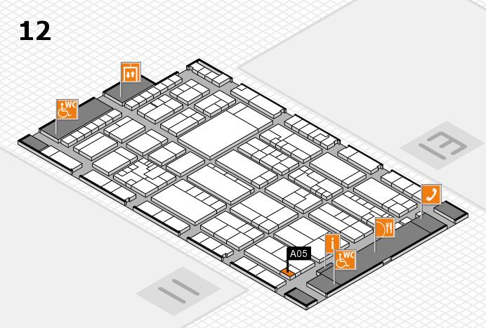K 2016 hall map (Hall 12): stand A05