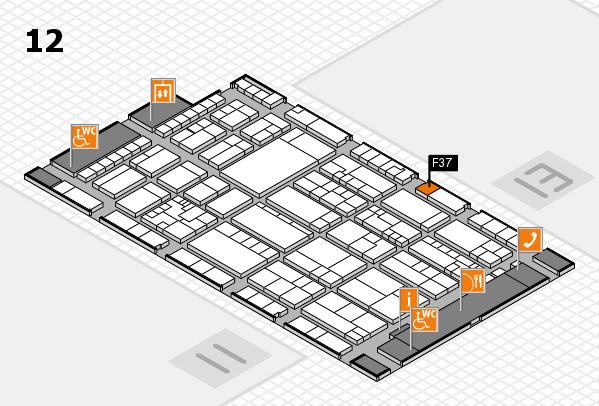 K 2016 hall map (Hall 12): stand F37