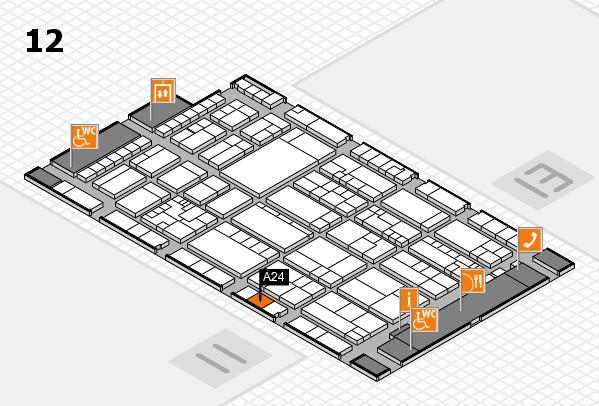 K 2016 hall map (Hall 12): stand A24