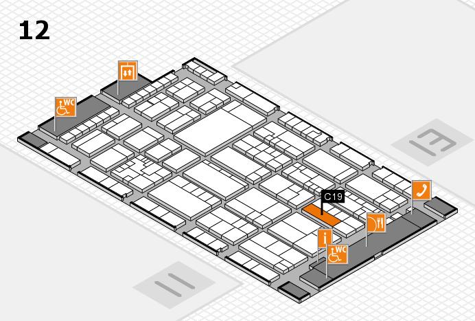 K 2016 hall map (Hall 12): stand C19