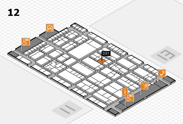 K 2016 hall map (Hall 12): stand D31
