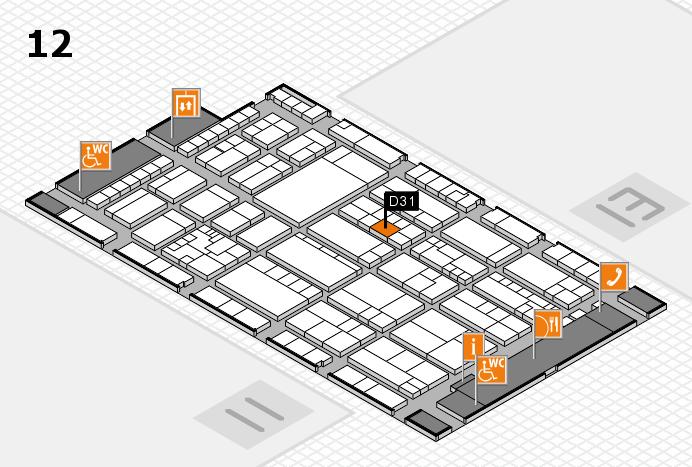 K 2016 Hallenplan (Halle 12): Stand D31