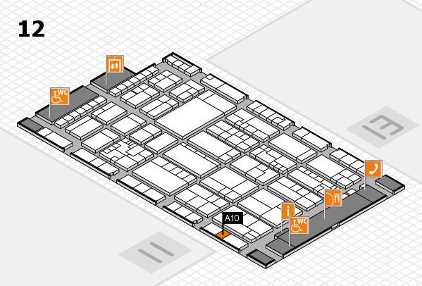 K 2016 hall map (Hall 12): stand A10